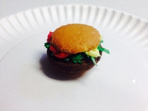 hamburger cookie snack